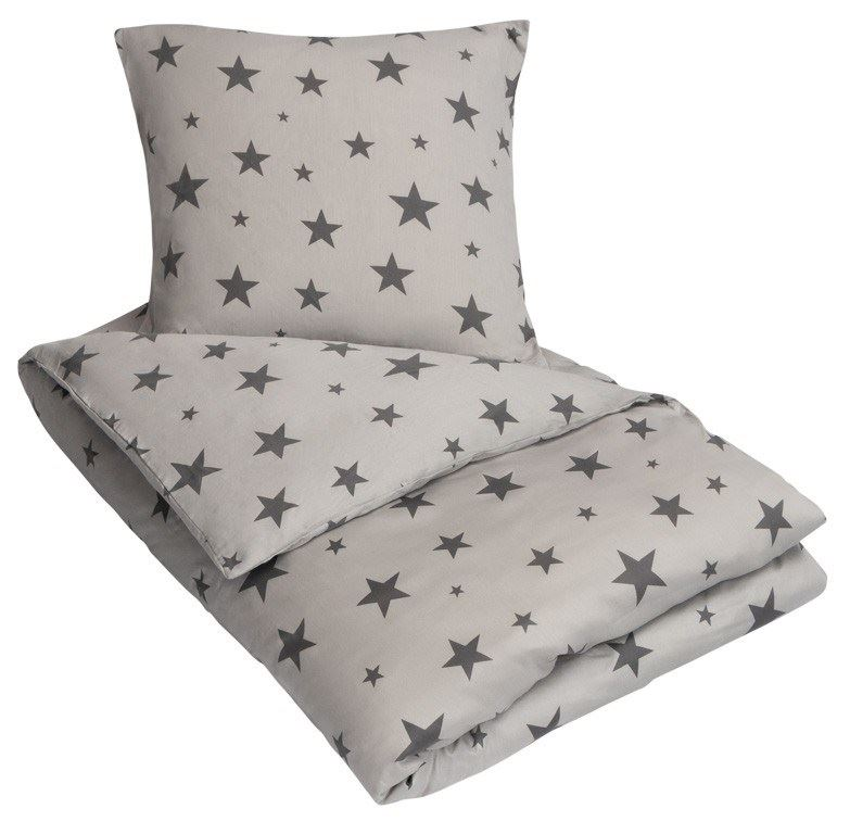 sengetøj med lynlås Dobbelt sengetøj   100% Bomuldssatin   200x200 cm   By Night  sengetøj med lynlås