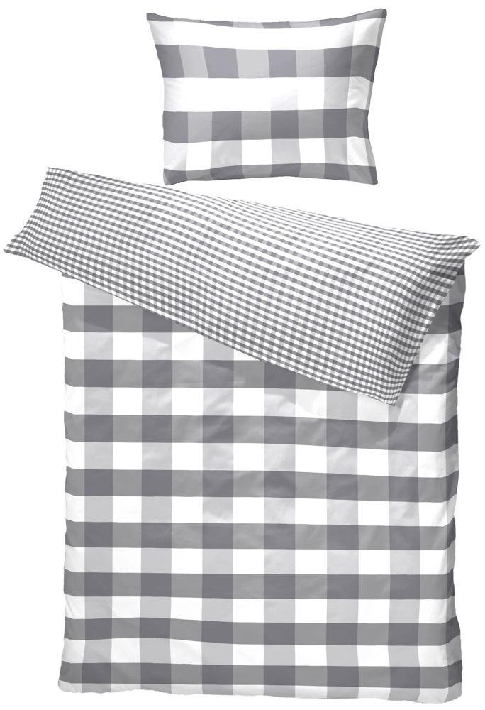 4b9be1d1ef1 Borås Cotton - Bomuld satin sengetøj - Hofsnäs Antracitgrå - 140x200 cm