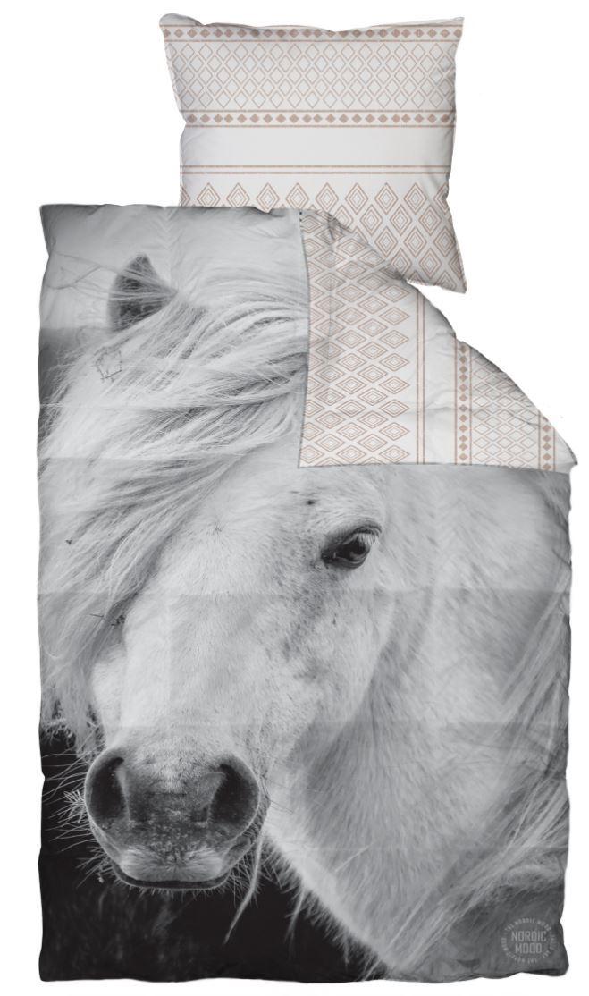 Junior Sengetoj Med Heste Motiv 100x140 Cm 100 Bomuldssatin