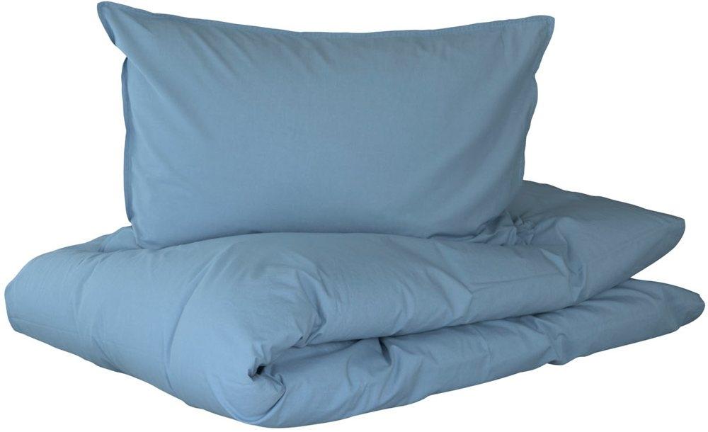 Frisk Sengetøj - Turiform Karma lys blå - 140x220 cm. 100% Enzymvasket QX-54