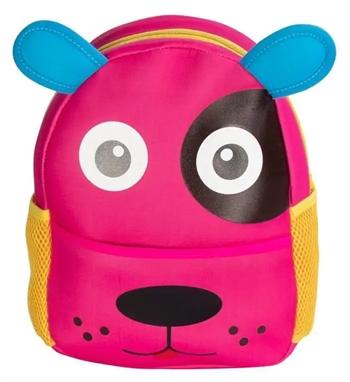 Børne rygsæk - Pink med hundeansigt