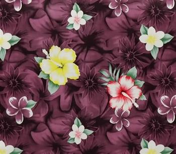Voksdug - Lilla blomster - 10 meter - 140 cm. bred - God kraftig kvalitet