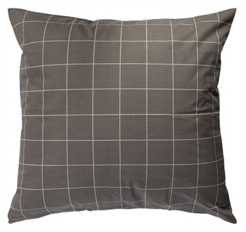 Pudebetræk 60x63 cm - Tern - Antracit grå - 100% Bomuld