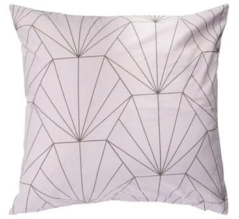 Pudebetræk 60x63 cm - Hexagon Rose - Lyserød - 100% Bomuld