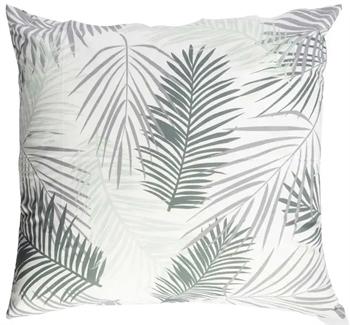 Pudebetræk 60x63 cm - Palm - Hvid - 100% Bomuld