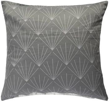 Pudebetræk 60x63 cm - Diamant - grå - 100% Bomuldssatin