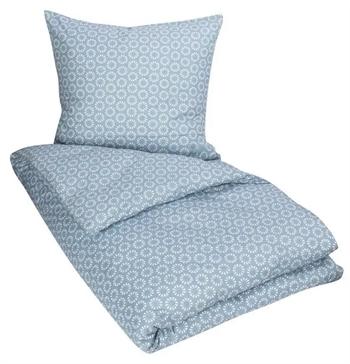 Kingsize sengetøj 240x220 cm - Mini floral - Blue - 100% Bomuld