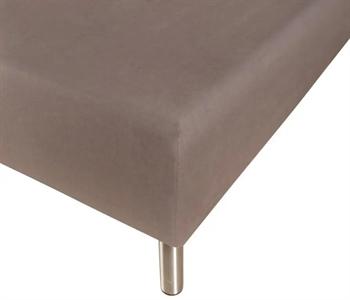 Stræklagen 140×200 cm – Grå – 100% Bomulds jersey – Faconlagen til madras