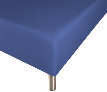 Boxlagen 140×200 cm – Blå – 100% Bomuld – Faconlagen til madras