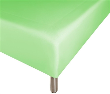 Boxlagen 180×200 cm – Lys grøn – 100% Bomuld – Faconlagen til madras