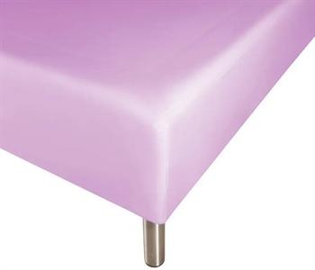 Boxlagen 140×200 cm – Lys lilla – 100% Bomuld – Faconlagen til madras