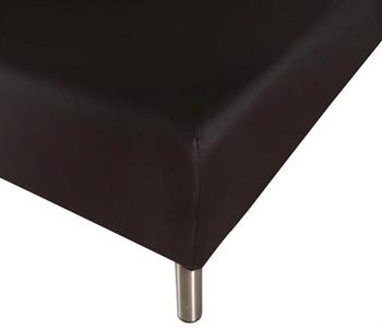 Stræklagen 140×200 cm – Sort – 100% Bomulds jersey – Faconlagen til madras