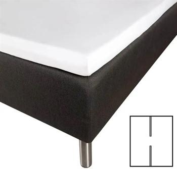 Splitlagen 180×200 cm – H-Lagen – Hvid – 100% Bomuldssatin – Til elevationsseng
