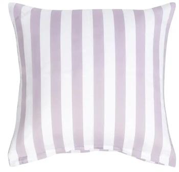 Pudebetræk 60x63 cm - Nordic Stripe Lavendel - Lavendel og Hvid - 100% Bomuldssatin