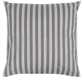 Pudebetræk 60x63 cm - Stripes Grey - Grå - 100% Bomuld