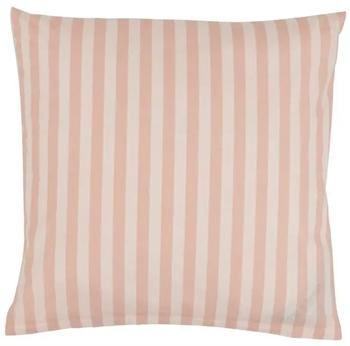 Pudebetræk 60x63 cm - Stripes Rose - Lyserød - 100% Bomuld