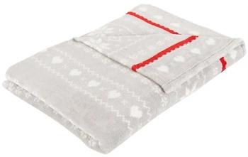 Fleece tæppe - Julemotiv - 140x200 cm - Blødt og lækkert sofatæppe - Borg Living