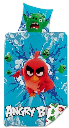 Angry Birds -  100% bomuld - 140x200 cm