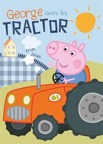 Børnetæppe - Gustav gris - 100x140 cm - Blødt og lækkert Fleece tæppe - Borg Living
