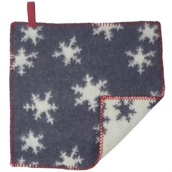 Siddeunderlag - Ny ren uld - Snekrystaller blå - 43x43 cm - Turiform