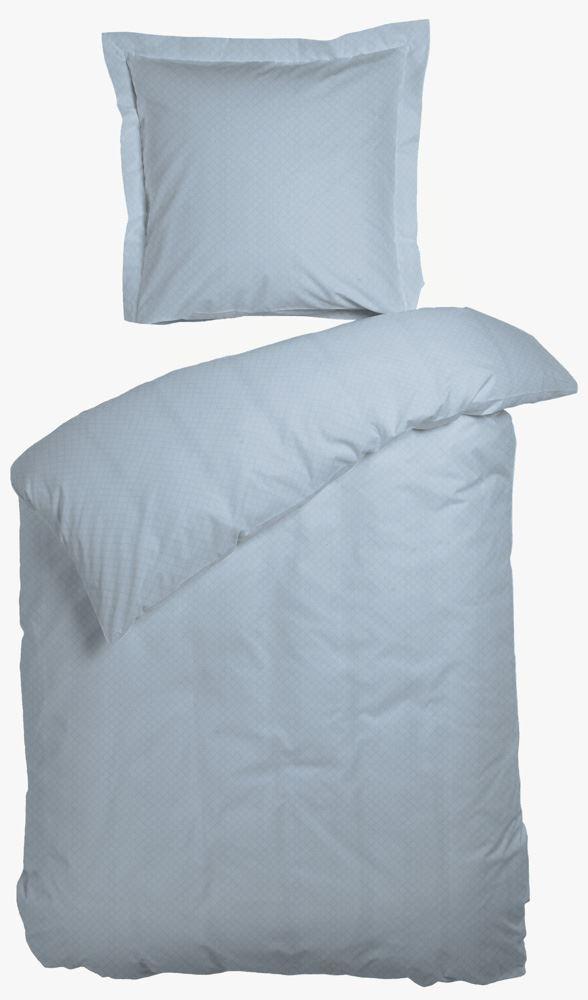 dobbelt sengetøj Sengetøj   Night & Day   Opal Light Blue   100% bomuldssatin  dobbelt sengetøj